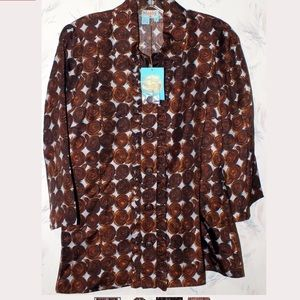 Plenty Tracy Reese Chocolate Dots Silk Blouse 10